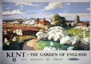 Kent, The Garden of England. Vintage BR (SR) Travel poster by Frank Sherwin. 1955